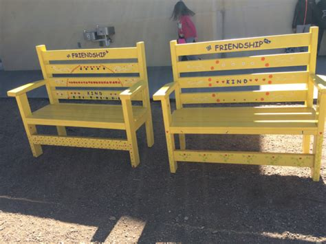 friendship benches quot friendship benches quot help battle bullying on the