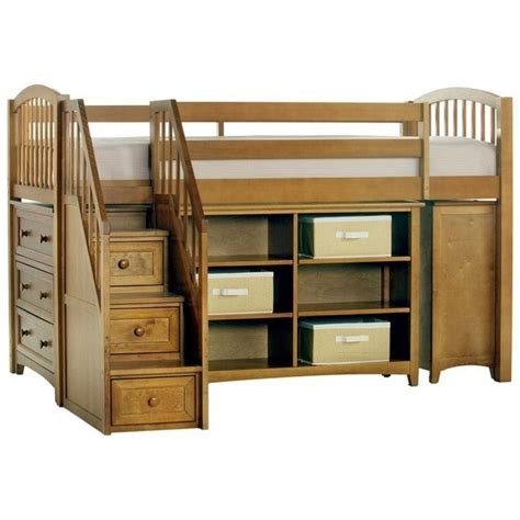 junior loft bed with stairs ne kids school house storage junior loft bed with stairs