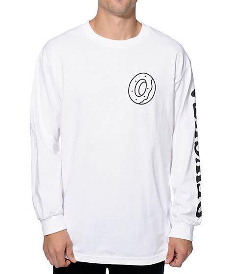 Longsleeve White Brush future donut ofwgkta sleeve t shirt zumiez