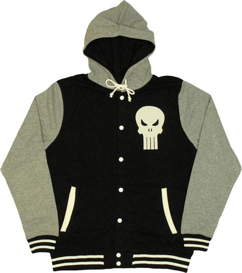 Hoodie Punisher punisher letterman hoodie
