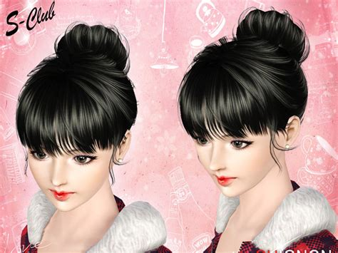 hair bun download s club ts3 hair n3 f