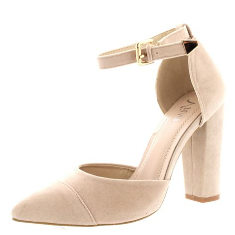 High Heels Us womens office evening pumps ankle pointed toe sandal high heels us 5 12 ebay