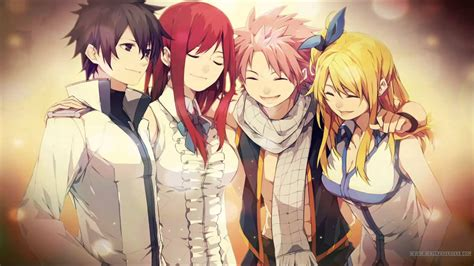 fairy tail anime anime fairy tail fullbuster gray scarlet erza dragnee