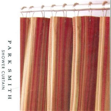 brown and gold shower curtains kohl s newport stripe rust brown gold fabric shower curtain