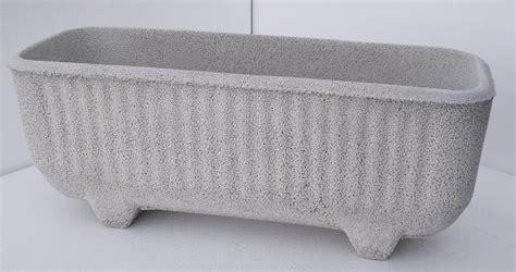 vasi in graniglia vaso fioriera rettangolare in cemento torino 60x22 h24
