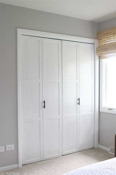 doors for closets how to add diy molding to closet doors on a budget