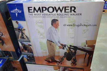 walker with seat costco costco sale medline empower rolling walker 114 99