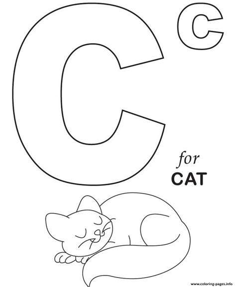 printable c for cat s alphabetb999 coloring pages printable