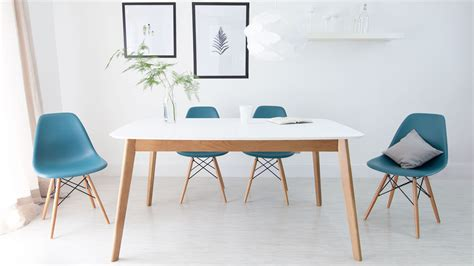 Discounted Modern Furniture by Affordable White And Oak Extending Family Dining Set Uk