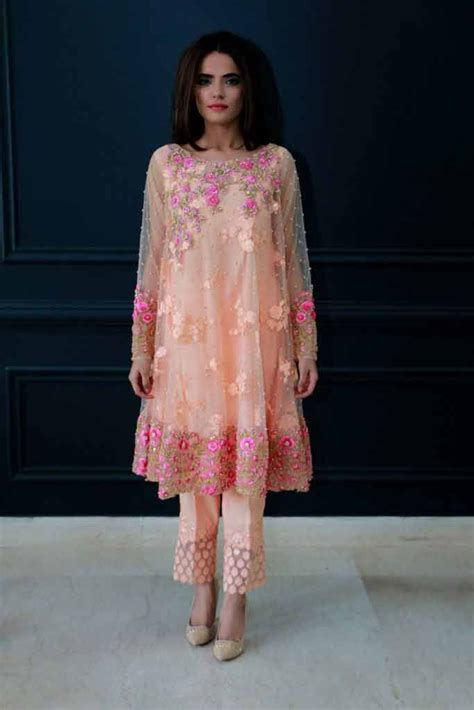 pakistani net frocks  gowns  price