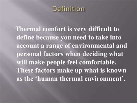 what is thermal comfort what is thermal comfort