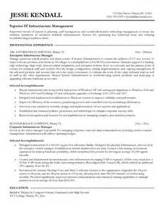 exle infrastructure manager resume sle