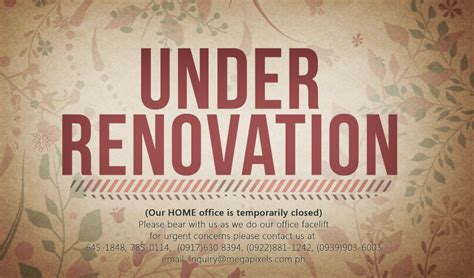Our Office Is Under Renovation » Philippine Wedding