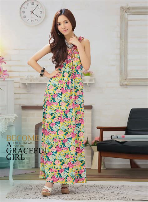 Rok Import Murah Xy61468 1 jual dress rok panjang terusan bunga flower import