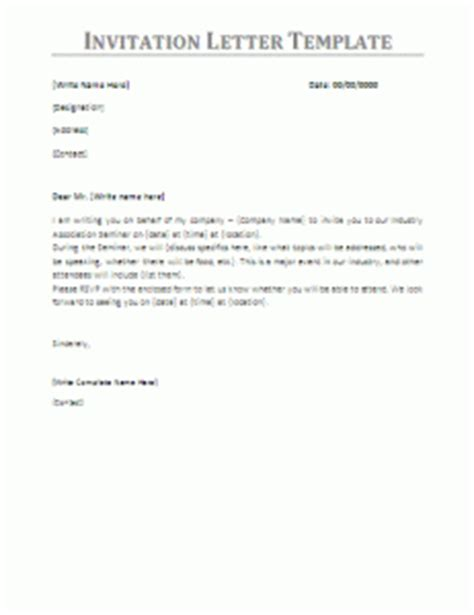 Invitation Letter Format For Taiwan Visa Letter Of Invitation For Business Visa Sle Templates