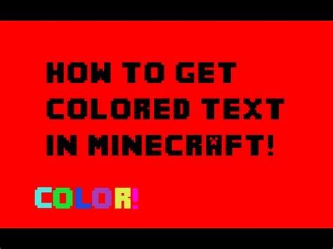 minecraft colored text how to get colored text in minecraft 1 6 2