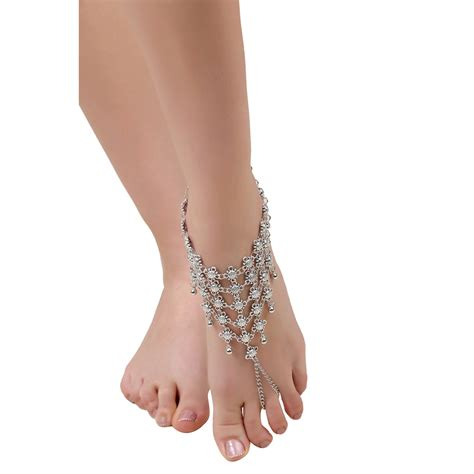 Pretty Anklets by Buy Designer Fashion Pretty Barefoot Toe Anklet In
