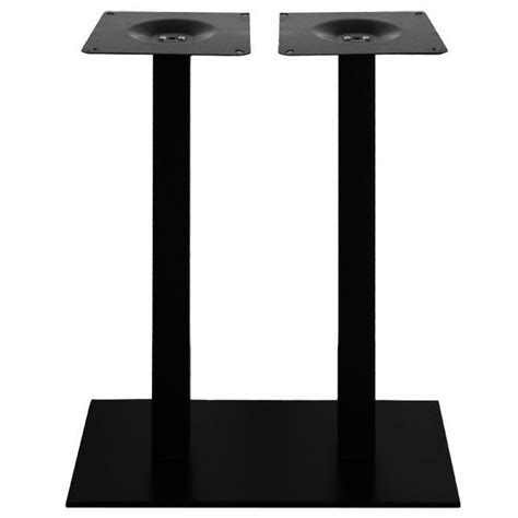 pied de table haute mange debout rectangulaire en acier