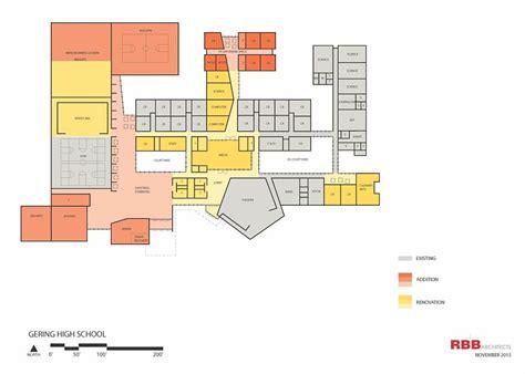 high school floor plan tentative floor plan of updated gering high school