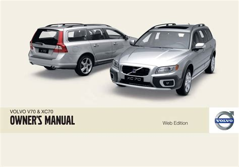 online car repair manuals free 2010 volvo xc70 security system volvo v70 xc70 2009 owner s manual pdf free online