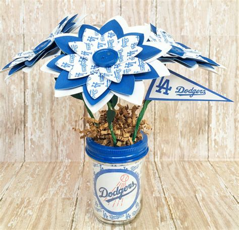 Handmade Paper Los Angeles - los angeles dodgers handmade paper flower bouquet