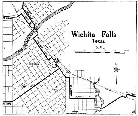 wichita falls texas map texas cities historical maps perry casta 241 eda map collection ut library