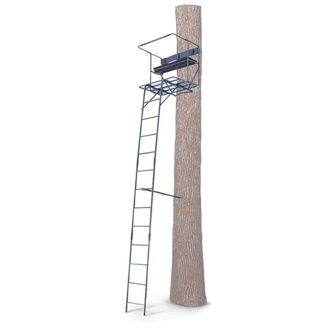 12 foot tree stand guide gear 17 1 2 foot deluxe two ladder tree stand