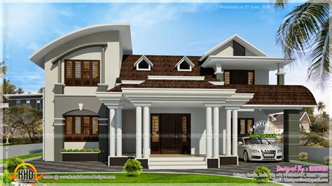house with beautiful dormer windows kerala home design