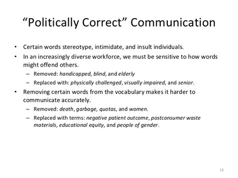Blind Politically Correct 5 barriers to effective communication