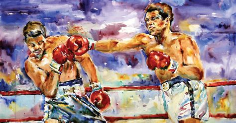 muhammad ali by leomurphy on open studio weekend behind the curtain of art making