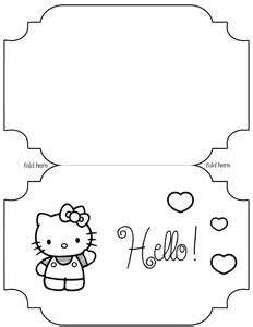 hello birthday card template hello birthday card printable free coloring pages
