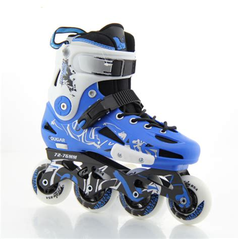 inline skates blue black roller skates 4 wheels