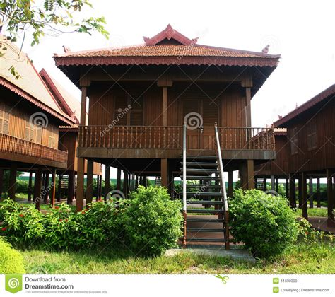 home design company in cambodia traditional cambodian wooden house stock photo image