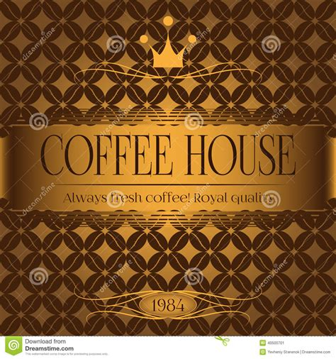pattern coffee house coffee house menu design stock vector image 40500701