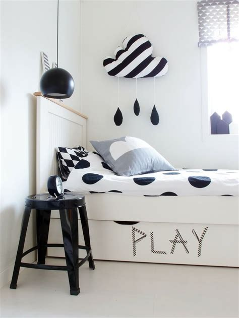 black and white bedroom with a pop of color black white w a pop of color room decor our thrifty