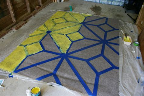 Painting An Outdoor Rug How To Paint An Outdoor Area Rug Checking In With Chelsea
