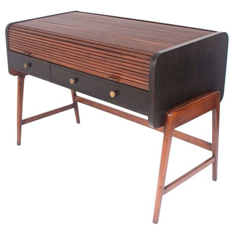 roll top desk tambour mid century modern tambour roll top desk by sligh lowry