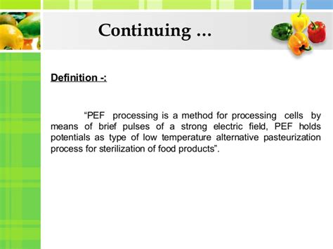 preservation of fruits juices with pulsed electric field