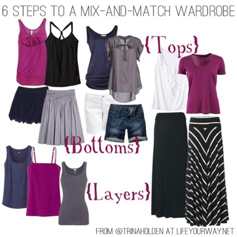 Mix And Match Wardrobe by 6 Steps To A Mix And Match Wardrobe Your Way