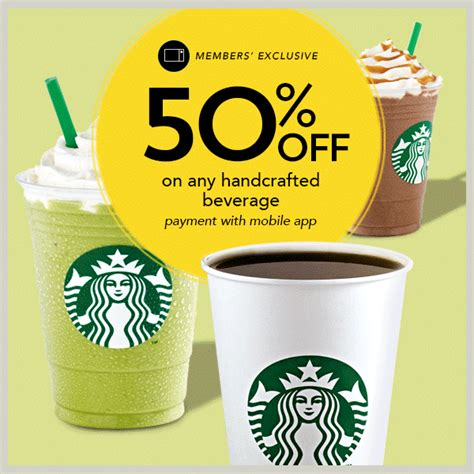 Starbucks Handcrafted Beverage - starbucks 50 discount handcrafted beverage when you pay