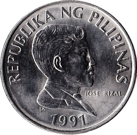 piso coin 1 piso small type philippines numista