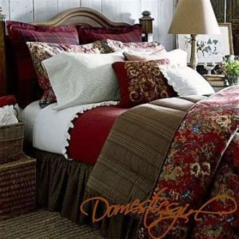chaps summerton full  piece comforter set red floral