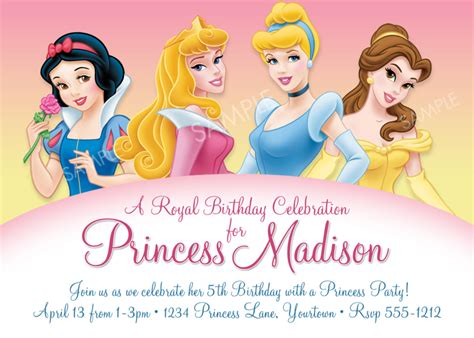 disney princess birthday invites printable disney princess for birthday invitations ideas