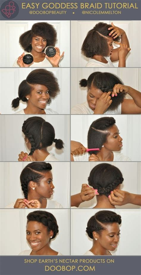 simple and cute ways to style braids goddess braid 67 crushworthy natural hair ideas from