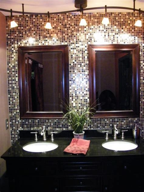 glamorous bathroom mirrors love the mosaic tile and framed mirrors home decorating