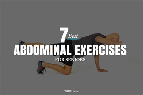 abdominal exercises  seniors