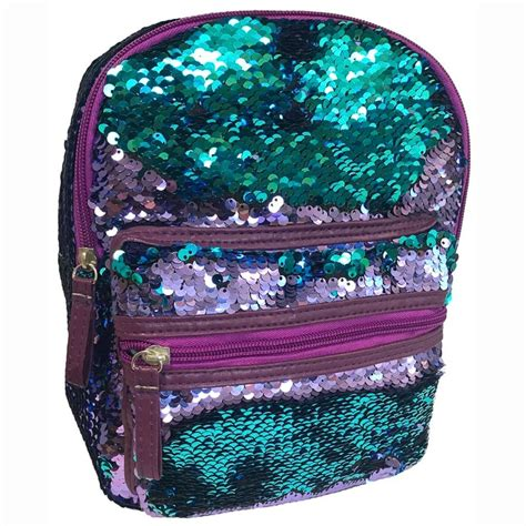 mini sequin backpack blue  purple bags backpacks bm