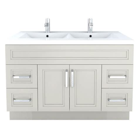 Modern Bathroom Vanities Canada Cutler Kitchen Bath Morning Dew Contemporary Bathroom Vanity 48 In X 22 In Lowe S Canada