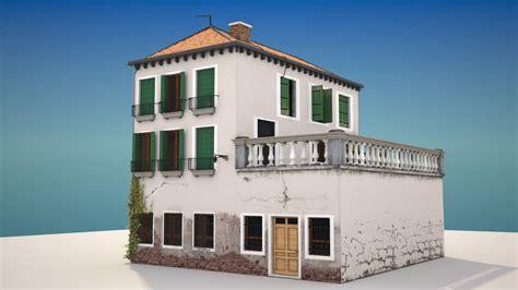 house home 3d obj italian old home 3d max