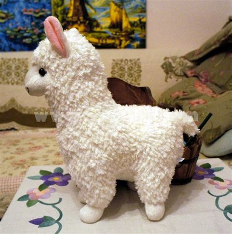 cute alpaca plush toy llama stuffed animal kids doll 23cm
